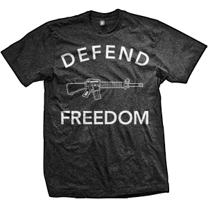 Defend Freedom AR-15 T-Shirt (TriBlack)