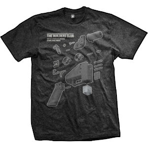 Liberator Pistol Builders Club T-Shirt (TriBlack)