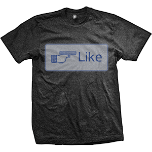 Like Shooting Button T-Shirt (TriBlack)