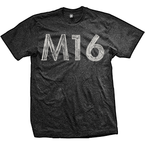 M16 Hand Painted T-Shirt (TriBlack)