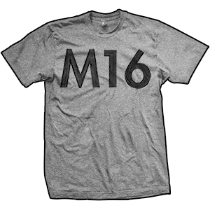 M16 Hand Painted T-Shirt (TriGrey)