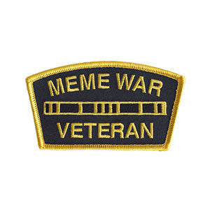 "Meme War Veteran Logo Morale Patch (2x4"")"