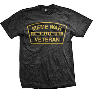 Meme War Veteran Logo T-Shirt (TriBlack)
