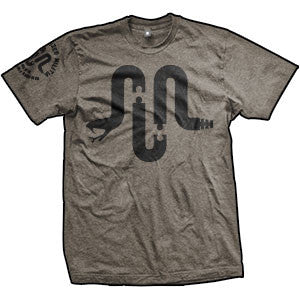 Unorganized Militia Logo T-Shirt (TriBrown)