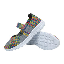 Load image into Gallery viewer, Grey Woven Slip On (3042273198180)