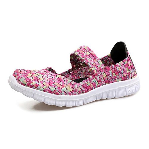 Pink Mix Woven Slip On (4429398048855)