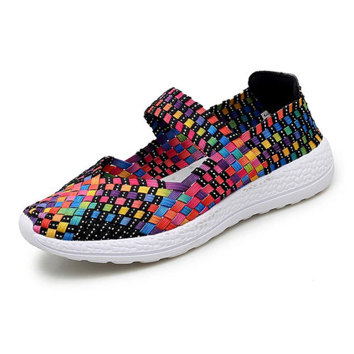 Rainbow Woven Slip On (4429843857495)