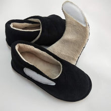 Load image into Gallery viewer, Black Comfort Velcro Slippers (4609149599831)