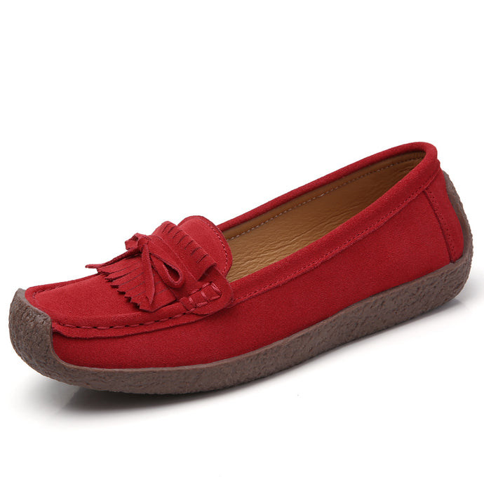 Red Suede Tassle Loafer (3955500154967)