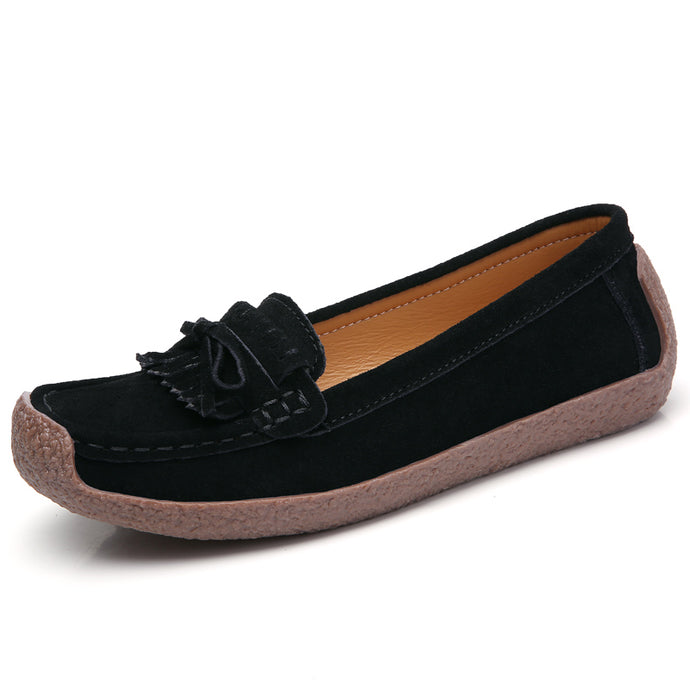 Black Suede Tassle Loafer (3955494322263)