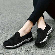 Load image into Gallery viewer, Black Breathable Slip On Trainer (4689219387479)