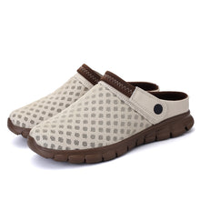 Load image into Gallery viewer, Brown Garden Woven Slip On Clog (4689097785431)