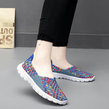Load image into Gallery viewer, Grey Mix Woven Full Cover Slip On (4688607739991)