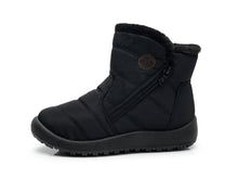 Load image into Gallery viewer, Black Zip Winter Ankle Boots (4158479532119)