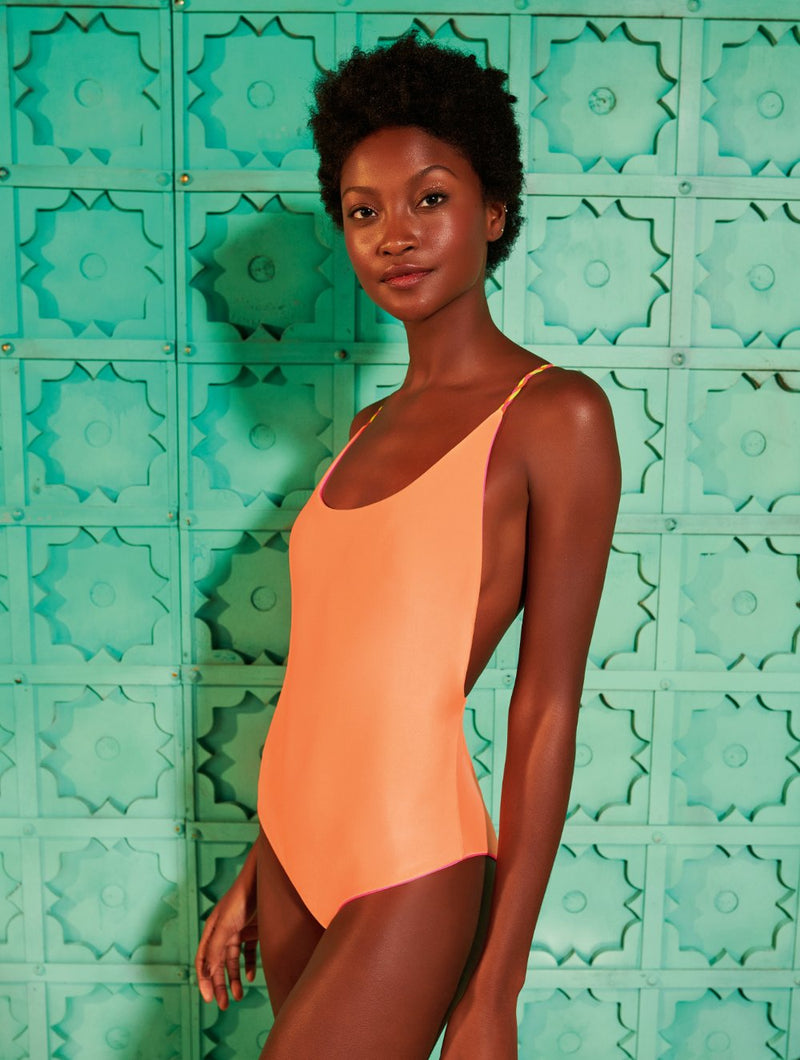Pradesh Reversible one piece swimsuit