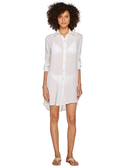 Shantung Crush Beach Shirt