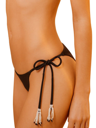 Onix Embroidered Triangle Tie Side Bikini