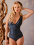 Interlaced V Neck One Piece