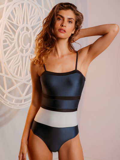 Tricolor Tube One Piece