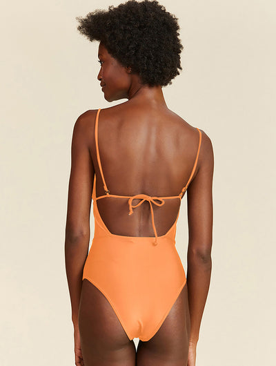 Ruffled One Piece Swimsuit