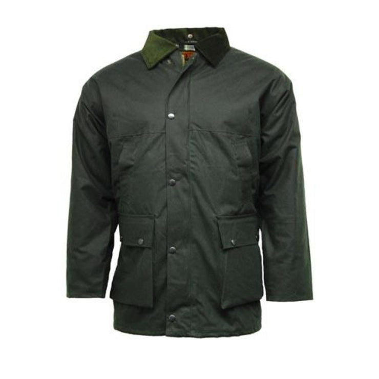Unpadded Lightweight Wax Jacket Olive