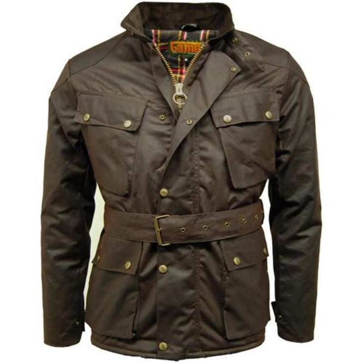 Speedway Quilted Wax Biker Jacket Brown