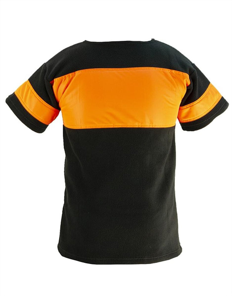 Bushmans Tee HV Orange n Black