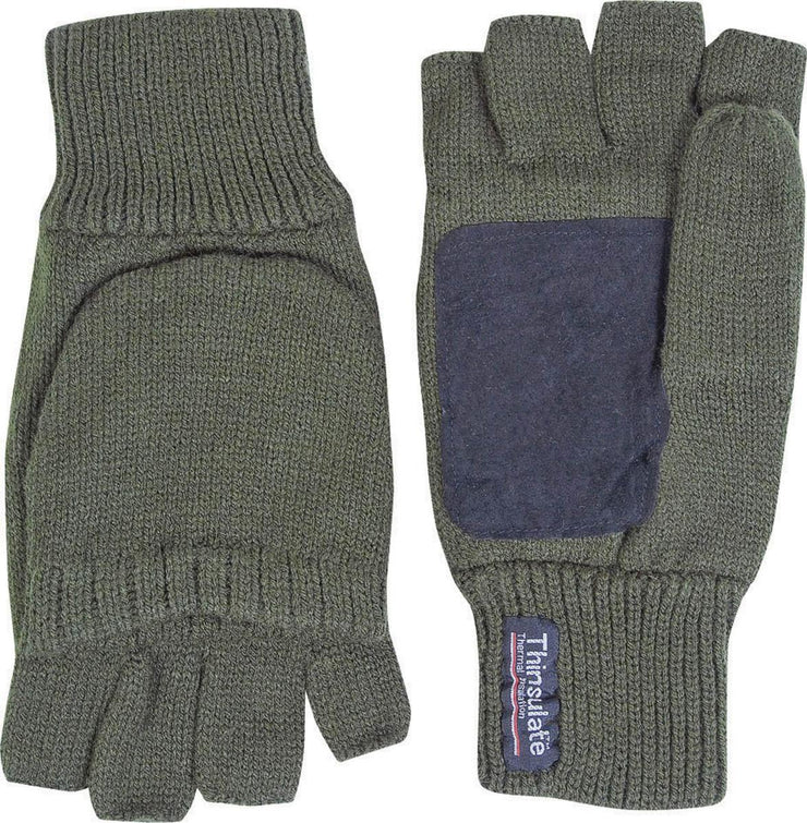 Suede Palm Shooters Mitts Green