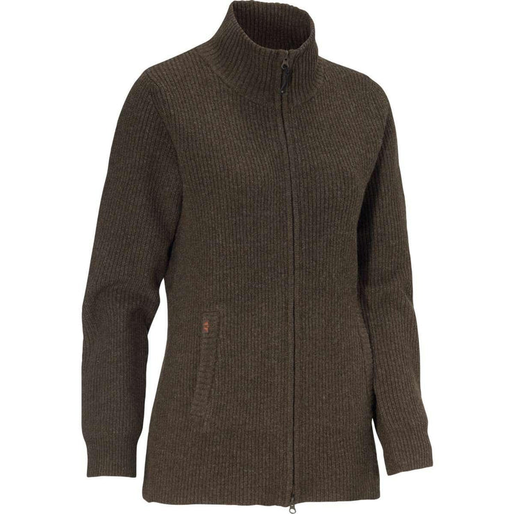 Shirley W Sweater Full zip Brown