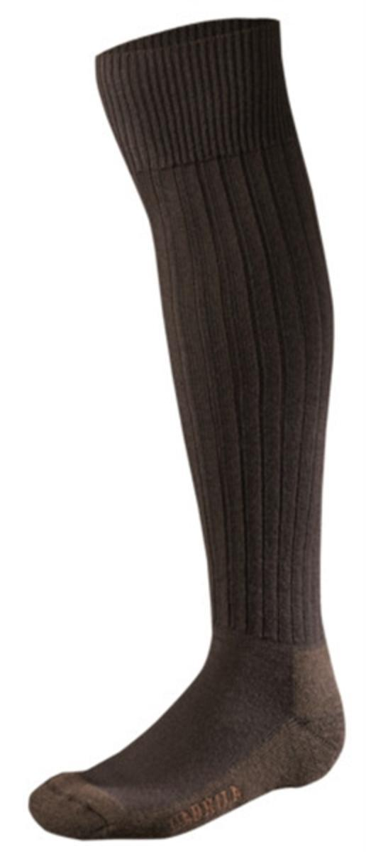 Tweed II knee high sock Dark brown