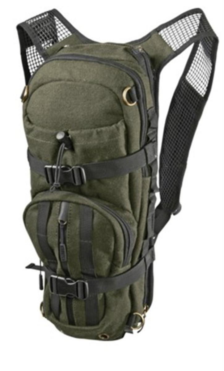 Alta rucksack in melton wool Hunting green 12 L