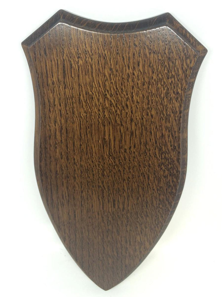 Solid Oak Roe Skull Shield Large