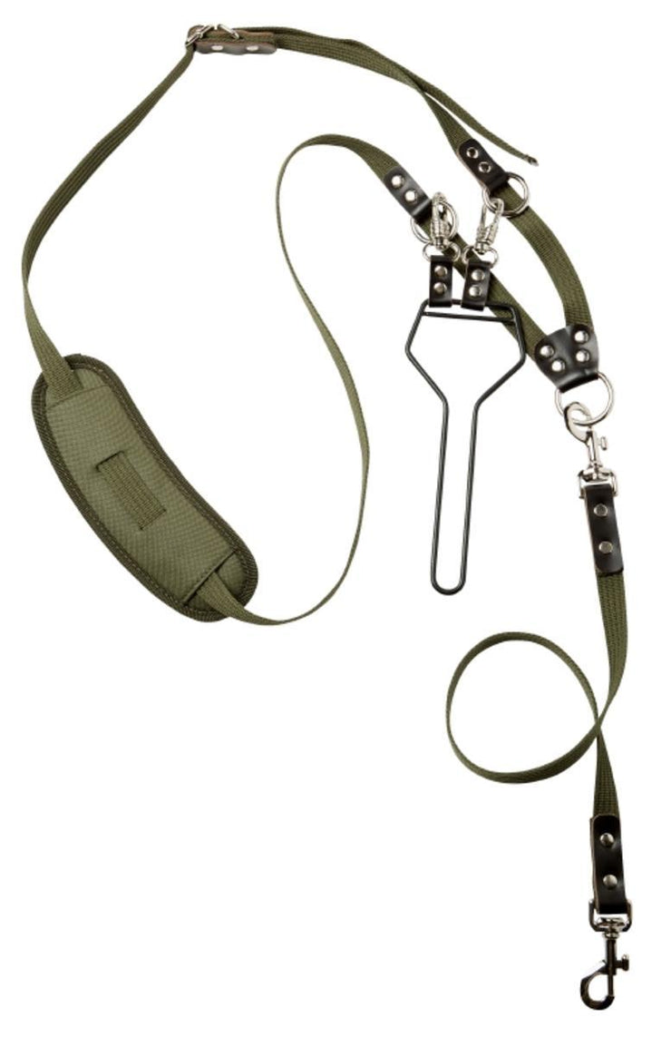 Hunting line webbing w carrier Green