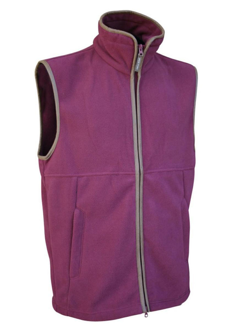 Countryman Fleece Gilet Burgandy