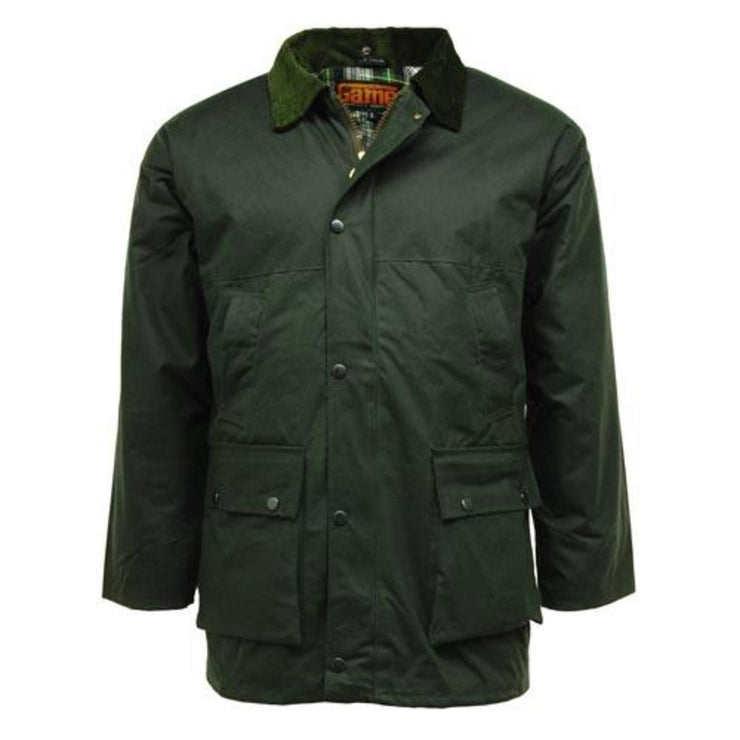 Classic Padded Wax Jacket up to 5XL Olive
