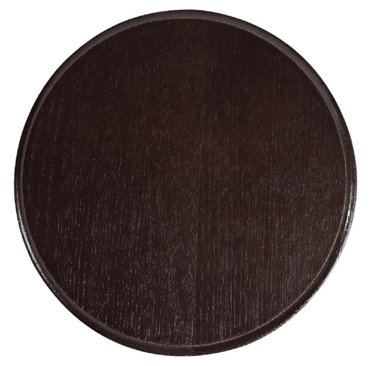 Wild boar trophy plate Dark wood dia. 20 cm
