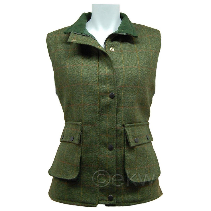 Ladies Game Tweed Gilet Fife
