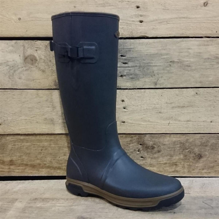 Highline Wellington Boots In Mahogany