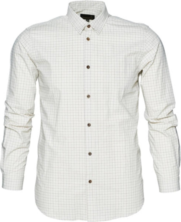 Colin Long Sleeve shirt Bitter chocolate check