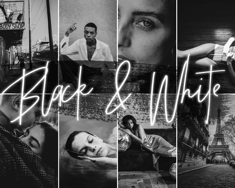 *new* BLACK & WHITE - 21presets®