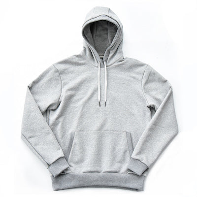 Pullover Hooded Sweatshirt – Heather Grey