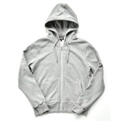 Full Zip Hoody – Grey Heather