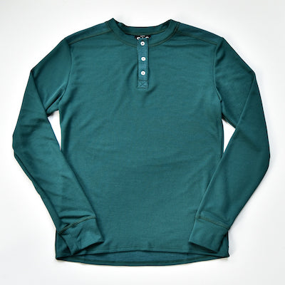 Thermal Merino Henley – Deep Teal