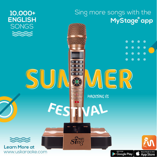 Sing all 10,000 english songs with Magic Sing karaoke! Connect the Mystage karaoke app to your magic sing karaoke machine to sing more songs