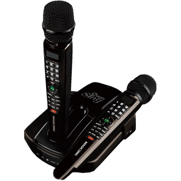 (OUT OF STOCK) Magic Sing ET23Pro · Two Wireless Mics · Built-in English+Tagalog 5,145 Songs · 10,000+ English Songs · Song Chip Compatible · Requires WiFi