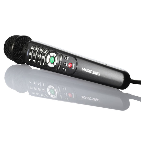 Refurbished · Magic Sing ET-25K · One (1) Wired Microphone · English · Tagalog · Spanish · Built-in Songs · One (1) FREE Pop Song Chip Included