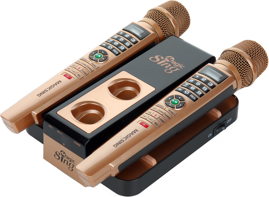 NEW Magic Sing EK5 · Two Wireless Mics · 10,000+ English Songs · Sing More  W/ MyStage · Requires WiFi
