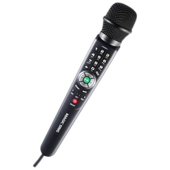 Refurbished · MagicSing ET-25K · One (1) Wired Microphone · English · Tagalog · Spanish · Built-in Songs · One (1) FREE Pop Song Chip Included