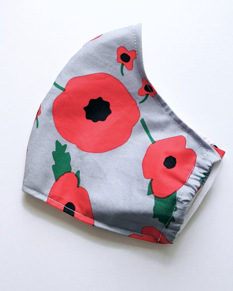 Poppy/ Remembrance Day Face Covering