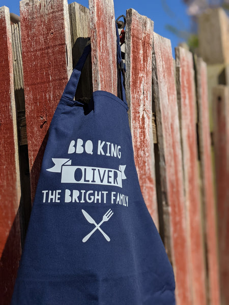 BBQ King or Queen Childs Apron